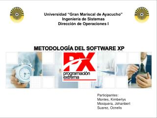 """Universidad """"Gran Mariscal de Ayacucho"""" Ingeniería de Sistemas Dirección de Operaciones I"""