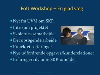 FoU Workshop – En glad væg