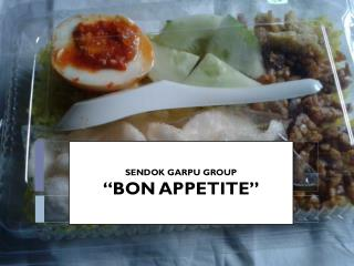 "SENDOK GARPU  GROUP ""BON APPETITE """