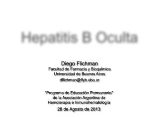 Hepatitis B Oculta