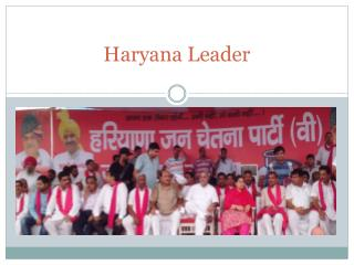 Haryana Leader Venod Sharma Towards Development
