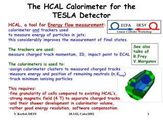 The HCAL Calorimeter for the  TESLA Detector