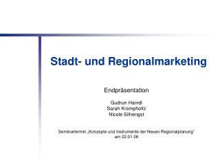 Stadt- und Regionalmarketing