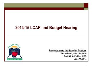 2014-15 LCAP and Budget Hearing