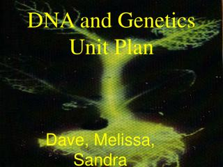 DNA and Genetics Unit Plan