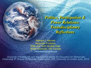 Politics, Participation & Power Relations: Transdisciplinary Reflections
