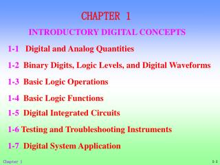 CHAPTER 1 INTRODUCTORY DIGITAL CONCEPTS