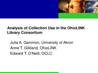 Analysis of Collection Use in the OhioLINK Library Consortium