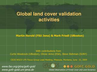 Global land cover validation activities