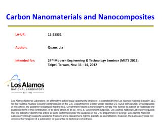 Carbon Nanomaterials and Nanocomposites