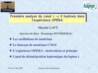 Les oscillations de neutrinos   Le faisceau de neutrinos CNGS