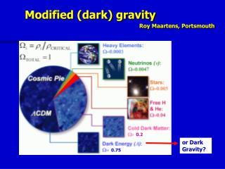 Modified (dark) gravity  Roy Maartens, Portsmouth