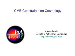 CMB Constraints on Cosmology