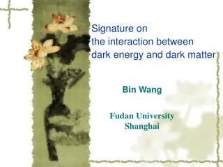 Bin Wang Fudan University Shanghai