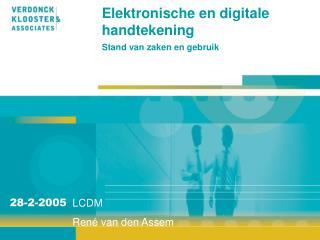 Elektronische en digitale handtekening