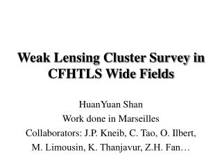 Weak Lensing Cluster Survey in CFHTLS Wide Fields