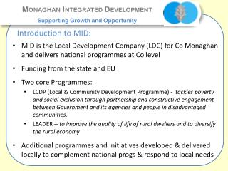 Monaghan Integrated Development Supporting Growth and Opportunity