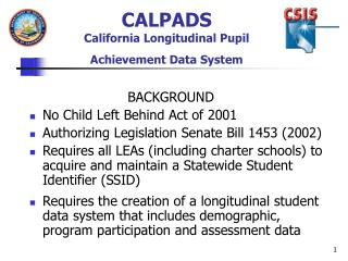 CALPADS California Longitudinal Pupil Achievement Data System