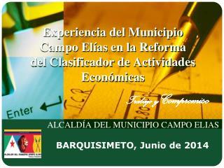 ALCALDÍA DEL MUNICIPIO CAMPO ELIAS