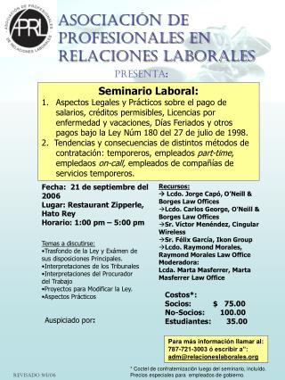 Asociación de Profesionales en Relaciones Laborales