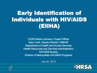 Early Identification of Individuals with HIV/AIDS (EIIHA)