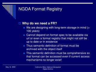 NGDA Format Registry