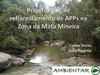 Projeto MDL de reflorestamento de  APPs  na Zona da Mata Mineira
