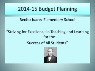 2014-15 Budget Planning