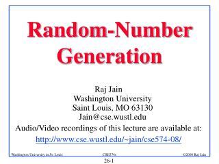 Random-Number Generation