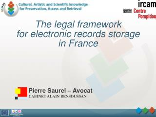 The legal framework for electronic records storage in France