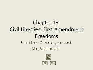 Chapter 19:  Civil Liberties: First Amendment Freedoms