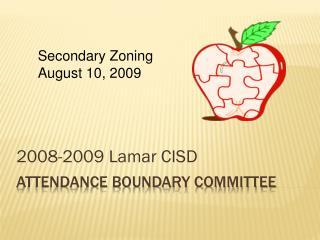 Attendance Boundary Committee
