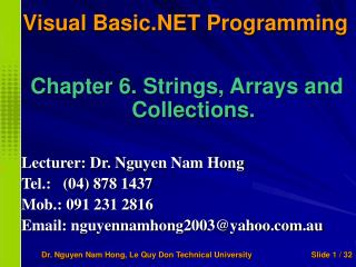 Visual Basic.NET Programming