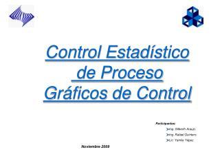 Control Estad í stico  de Proceso Gráficos de Control