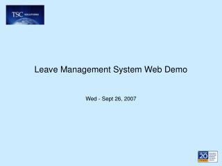 Leave Management System Web Demo