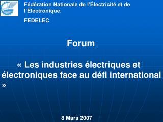 Fédération Nationale de l'Électricité et de l'Électronique,  FEDELEC