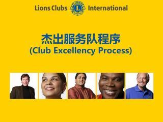 杰出 服务队 程序 (Club Excellency Process)