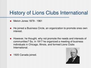 History of Lions Clubs International