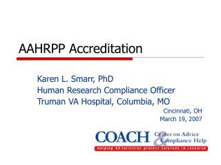 AAHRPP Accreditation