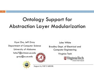 Ontology Support for Abstraction Layer Modularization