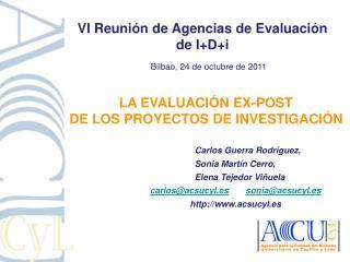 LA EVALUACIÓN ex-POST  DE LOS PROYECTOS DE INVESTIGACIÓN