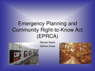 Emergency Planning and Community Right-to-Know Act (EPRCA)