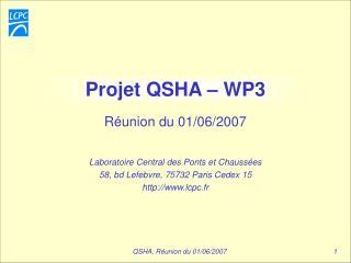 Projet QSHA � WP3