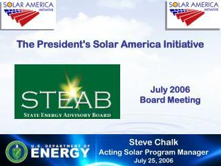 The President's Solar America Initiative