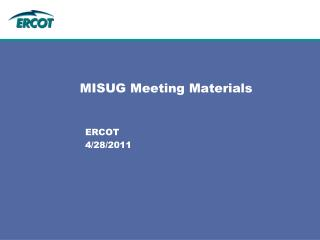 MISUG Meeting Materials