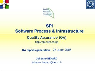 SPI  Software Process & Infrastructure