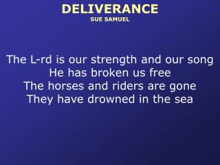 DELIVERANCE SUE SAMUEL