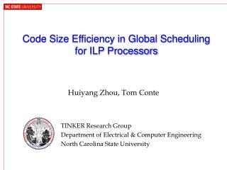 Code Size Efficiency in Global Scheduling for ILP Processors
