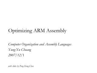 Optimizing ARM Assembly
