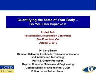 Quantifying the State of Your Body -- So You Can Improve It